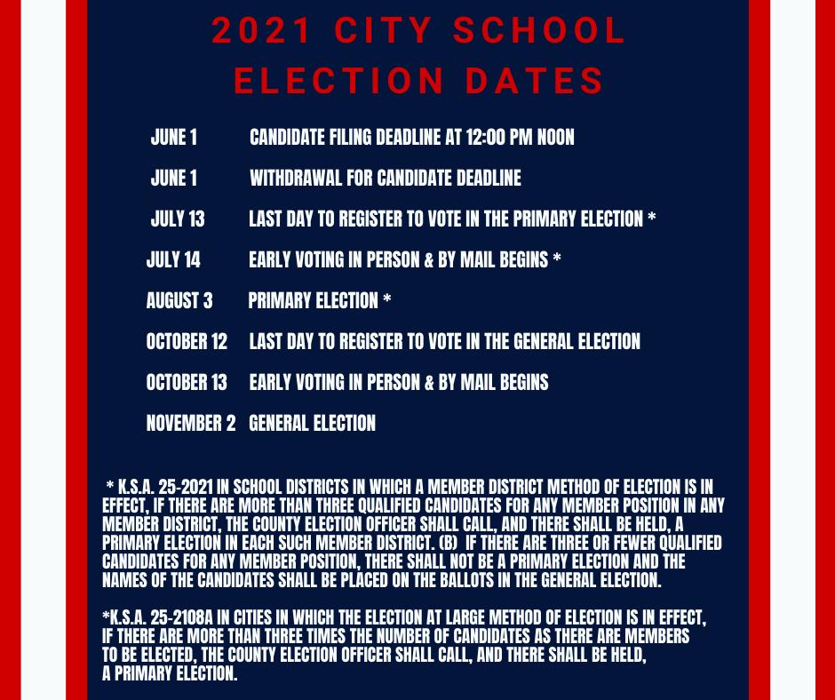 2021 Election dates